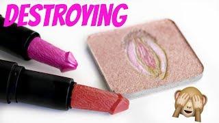 Destroying Rude Makeup! - Bitch Slap Cosmetics   THE MAKEUP BREAKUP