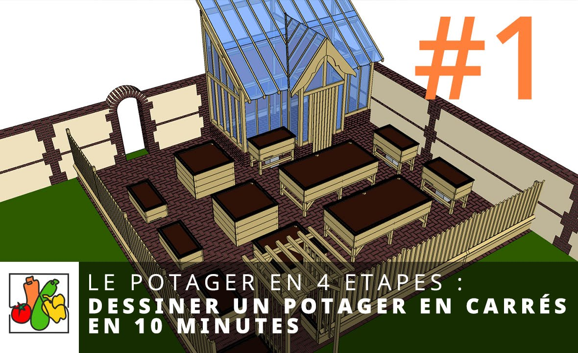 Dessiner un potager en carr s en 10 minutes youtube for Plan de potager en carre