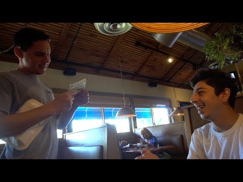 WE TIPPED THE WAITER $500 AND THIS WAS HIS REACTION.. *emotional* | FaZe Rug