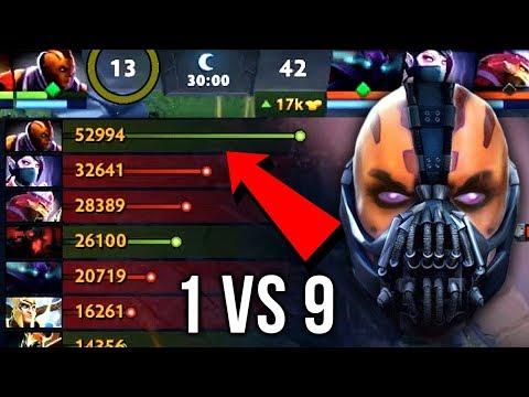 Epic Sh*t 1 vs 9 Anti-Mage Impossible Comeback 10 Item Build Insane 59k Networth