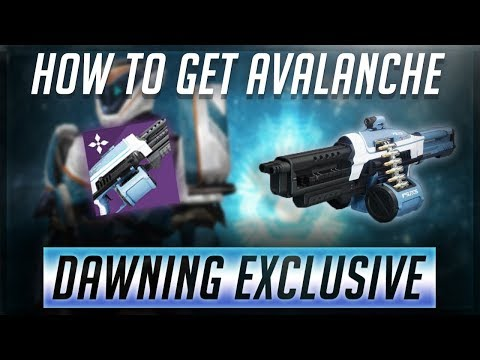 Destiny 2: The Dawning | How to get AVALANCHE! New Exclusive Machine Gun!! thumbnail