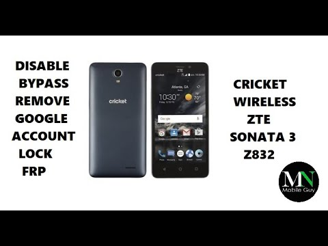 Disable Bypass Remove Google Account Lock FRP on ZTE Sonata 3!
