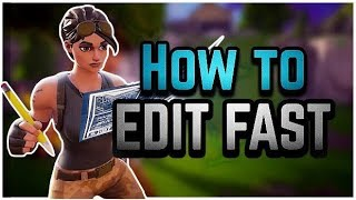 How To EDIT FAST in Fortnite Mobile | Fortnite Mobile Fast Editing Tips & Tricks + Guide
