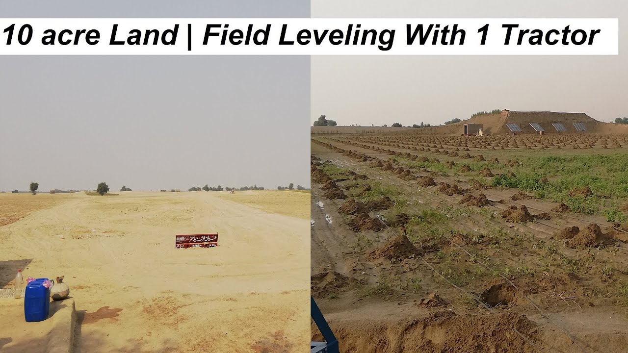 Field Leveling With Tractor | Leveling 10 acres Of Thal