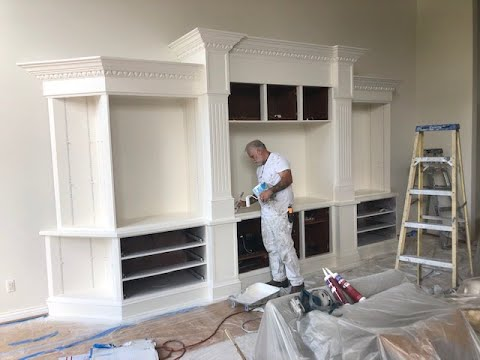 180: Painting with Mike. custom entertainment center