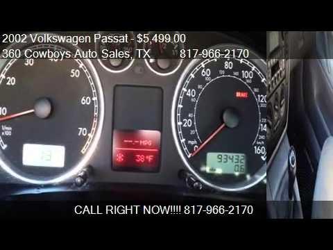 2002 Volkswagen Passat GLS MANUAL  for sale in Arlington T  YouTube