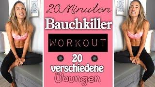 Bauchworkout ♥ Bauchmuskeltraining mit 20 unterschiedlichen Übungen ♥ Effektiv den Bauch trainieren