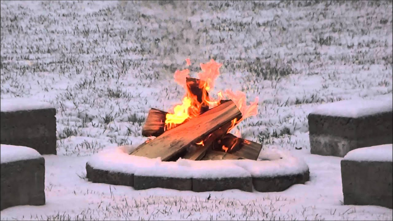 backyard fire pit in snow amazing to watch youtube