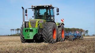 Land bewerken met Claas Xerion 3800 + Köckerling Vario 4 Mtr. Westerhof Woldendorp