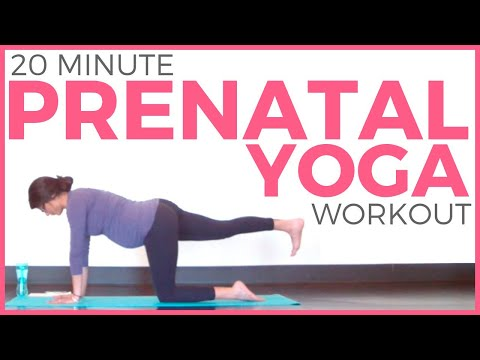 20 minute Prenatal Yoga Workout for Strength & Flexibility | All Trimesters