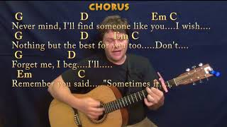 Someone Like You (Adele) Guitar Cover Lesson with Chords/Lyrics - Capo 2nd