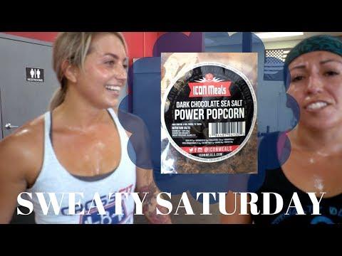SWEATY SATURDAY: Partner Wods & Protein Popcorn