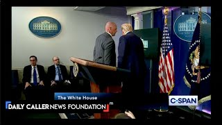 Trump Was Interrupted During The Press Briefing And Escorted Out