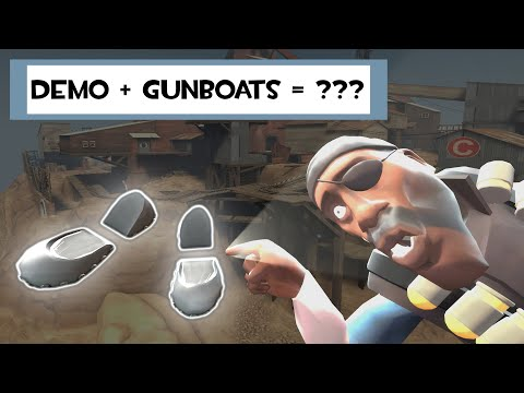 So I equipped the gunboats on the demoman...