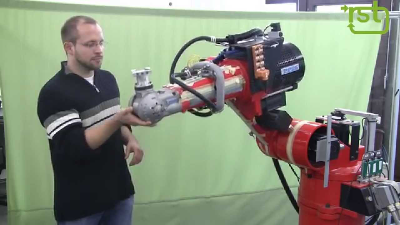 Exploiting Link Elasticity in a Conventional Industrial Robot Arm