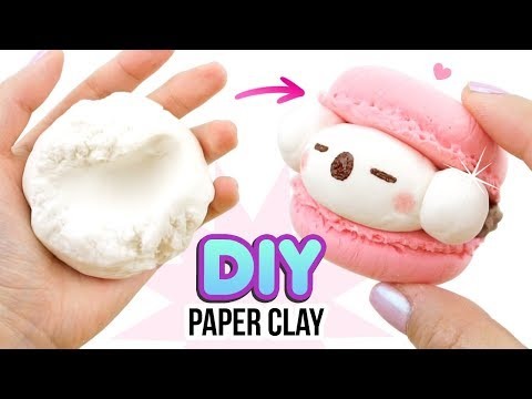 DIY PAPER CLAY!!! Comparing DIY Clay With Store Brands! DIY Koala Macaron Tutorial