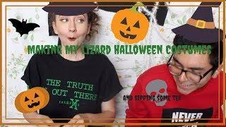 Making my lizard Halloween Costumes ft. My best friend