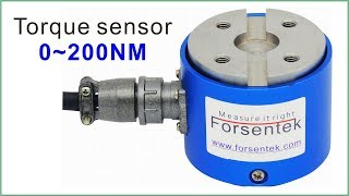 Flange torque sensor for 0-200NM non-rotating torque measurement