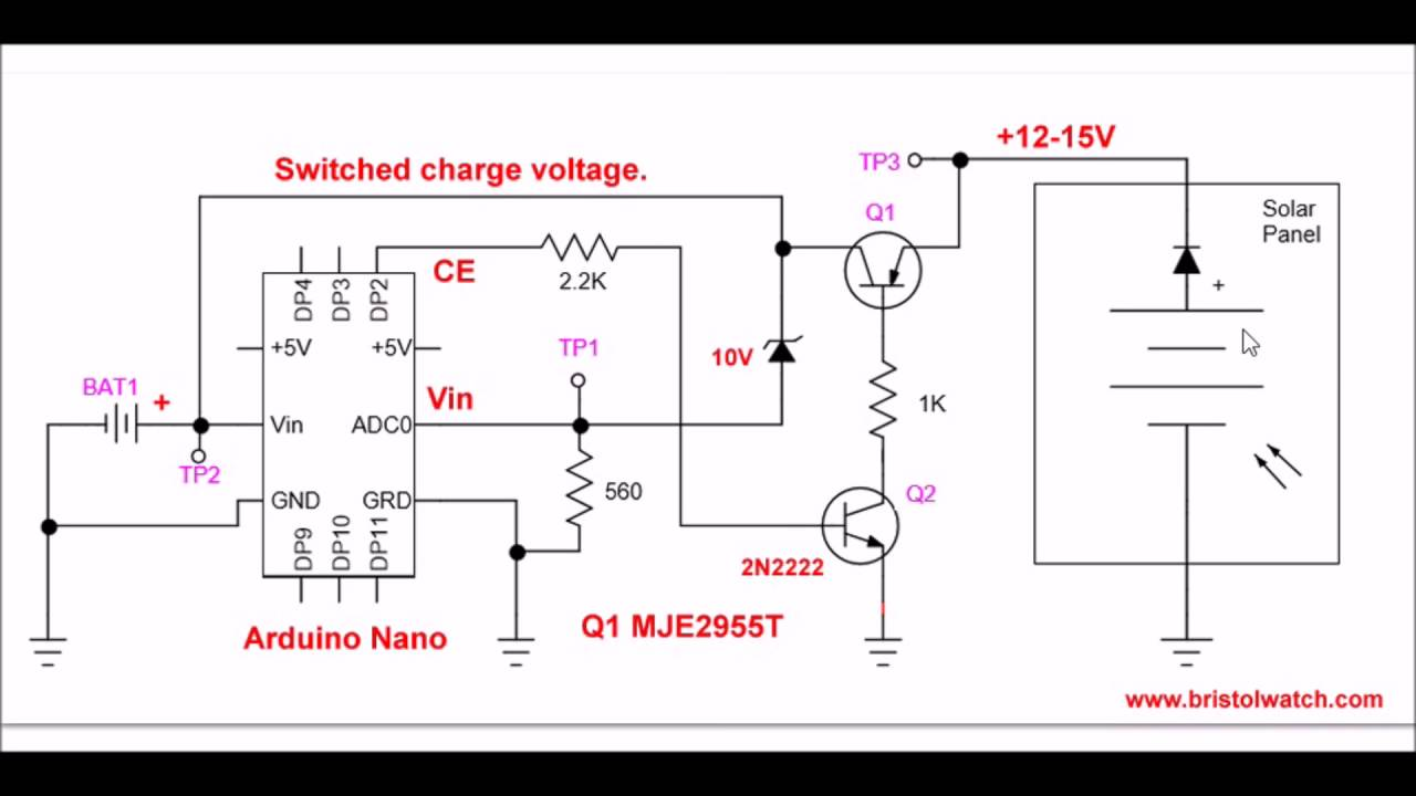 circuit diagram simple simple circuit diagram simple arduino battery charge controller youtube #5