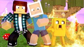 Minecraft : FOGO NA CASA DO FINN E DO JAKE HORA DE AVENTURA (Mapa)
