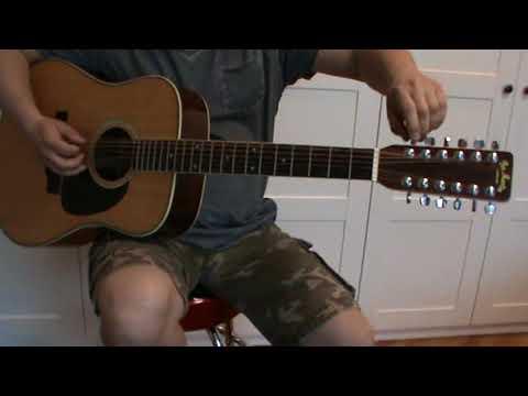 Pro Martin Custom D-250 Vintage Japan Lawsuit 12 String Guitar soundcheck