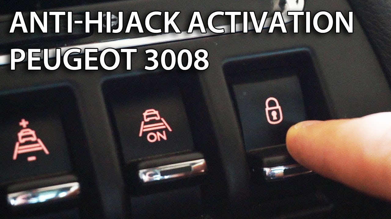 Peugeot 3008 Auto Locking Activation Anti Hijack Youtube