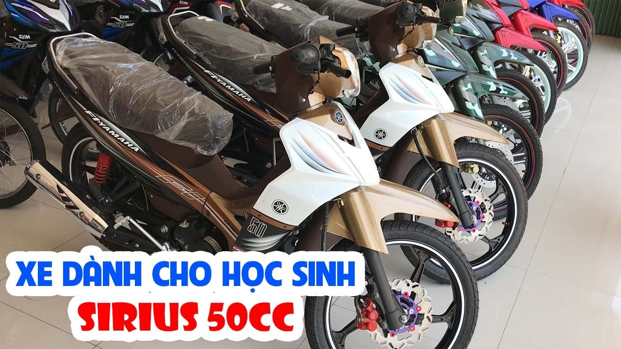 Sirius 50cc ▷ Tổng quan các màu sắc xe dành cho học sinh