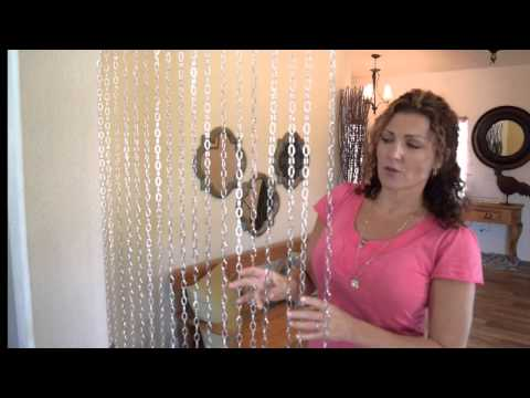 Real Metal Chain Beaded Curtains - ShopWildThings Video