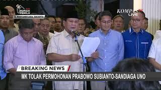 Gambar cover [FULL] Pernyataan Prabowo-Sandiaga Setelah MK Tolak Permohonannya