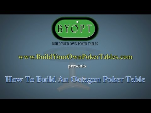 How to Build an Octagon Poker Table Video