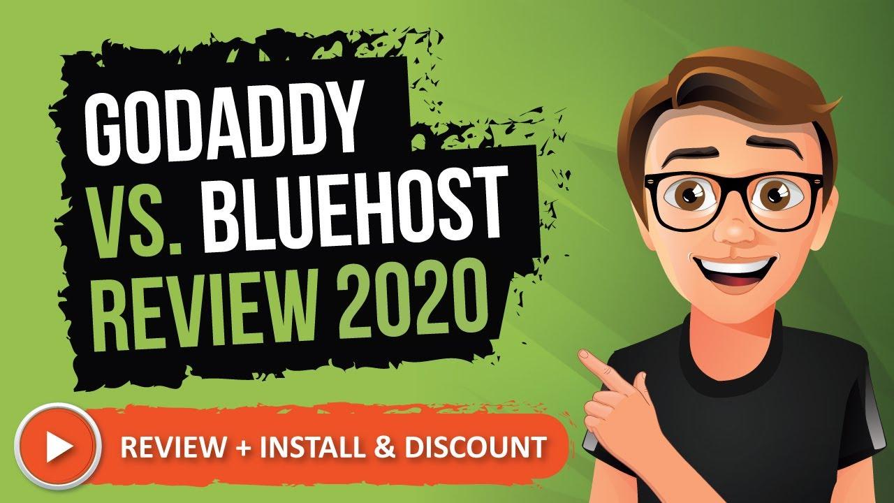 GoDaddy Vs Bluehost Review 2019 [Comparison Video]