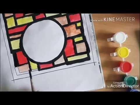 modern art | beautiful paintng tutorial by daughter of an artist.