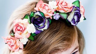 How to make a floral crown (craft tutorial) Thumbnail