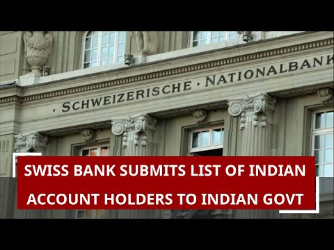 Swiss bank submits list of Indian account holders to Indian govt