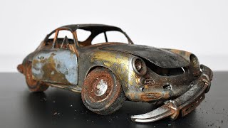 Restoration Abandoned Porsche 356 Model Car
