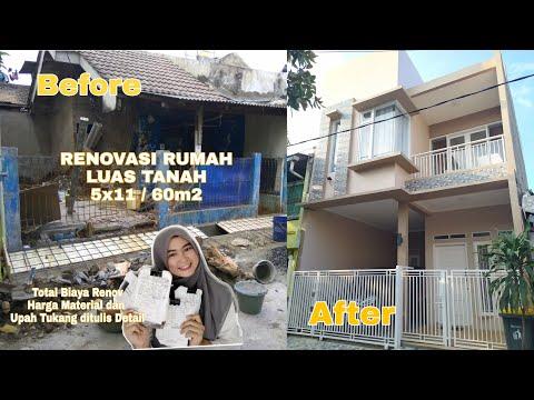 Rincian Detail Biaya Renovasi Rumah || Rumah Minimalis 5x11m