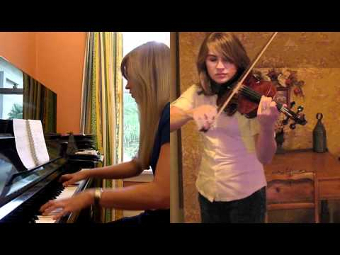 MorrowindSkyrim Theme Piano Violin Medley  Taylor Davis and Lara