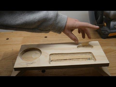 DIY Plywood Desk Organizer
