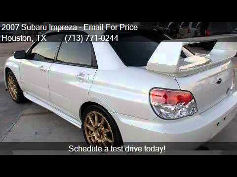 2007 Subaru Impreza 4 Door Sedan H4 Turbo Wrx Sti For Sale Youtube