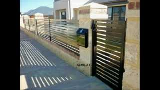 Fence Slats Powder Coated Black