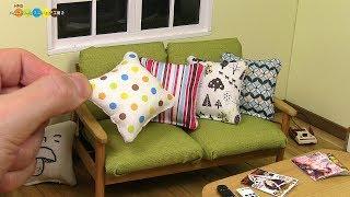 DIY Miniature Cushion ミニチュアクッション作り