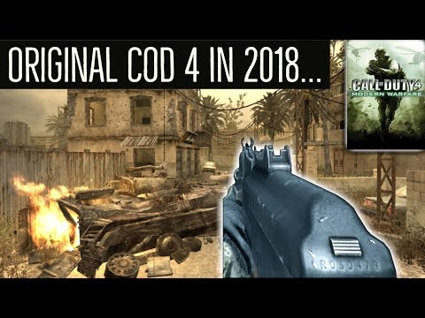 Here's What The ORIGINAL CoD 4 Looks Like In 2018... (11 YEARS OLD)