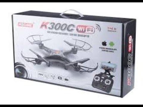 K300c wifi drone review + camra test