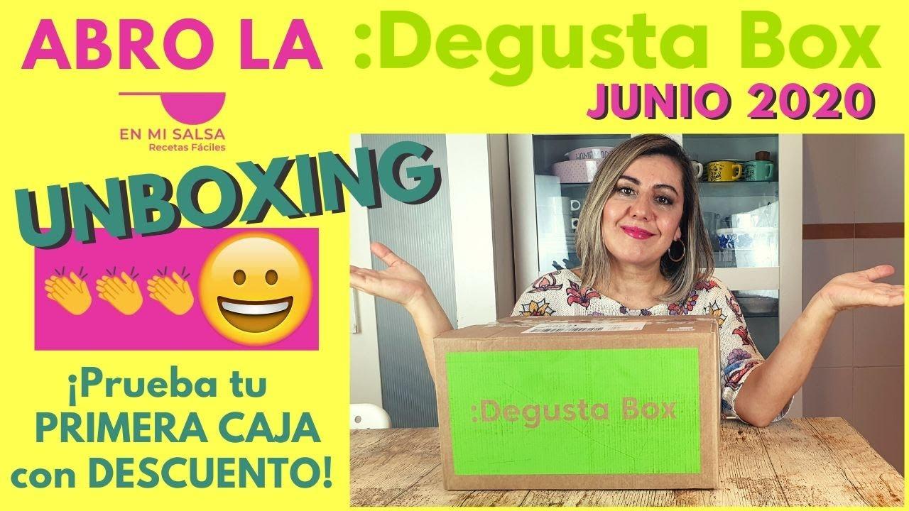 🎁 UNBOXING DEGUSTABOX JUNIO 2020 ⭐ ¿QUIERES PROBAR? ¡Pues APROVECHA este DESCUENTO! 😉 ¡ESTÁ GENIAL!