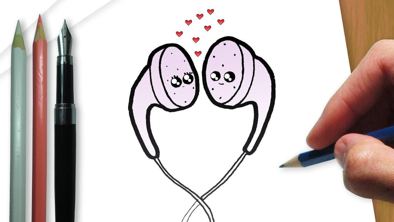 Madeheart Cuaderno De Dibujo Libreta Para Dibujar Hecho: How To Draw Kawaii Headphones