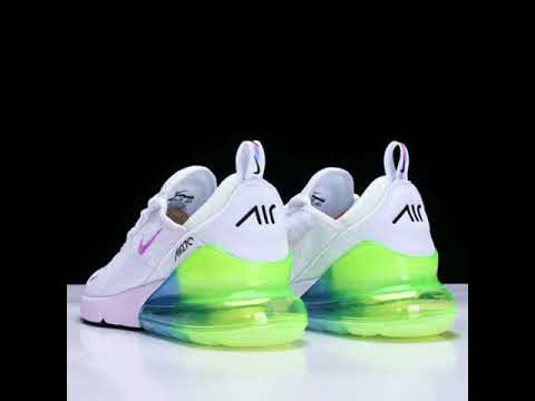 Mens Nike Air Max 270 White Blue Green Running Shoes Youtube