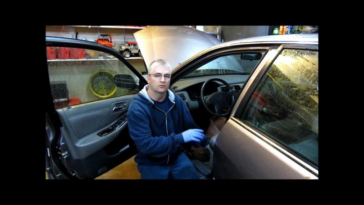 fixing a honda accord broken power seat [ 1280 x 720 Pixel ]