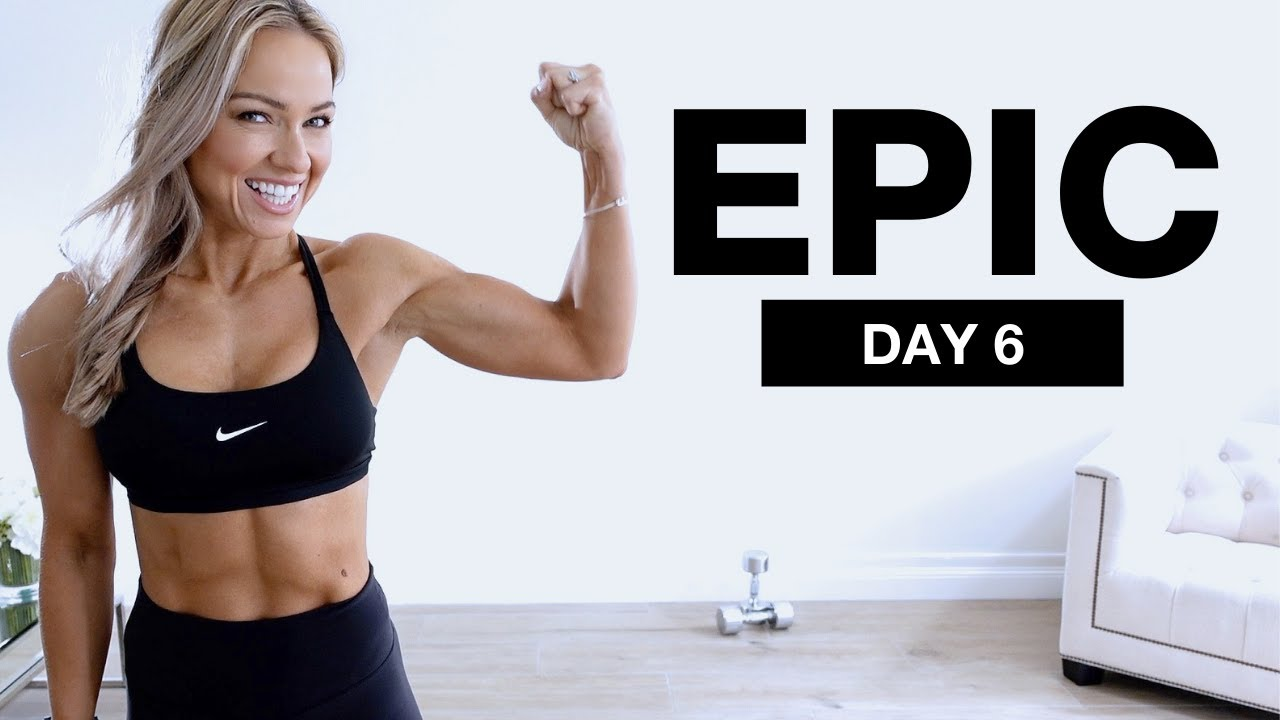 DAY 6 of EPIC   Dumbbell Arms and Abs Workout 40 Minute