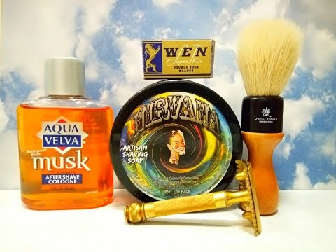 Gillette Old Type, Wet The Face Nirvana Soap And Aqua Velva Musk Aftershave