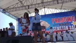 Gaya Prabowo Saat Kampanye di Denpasar, Bali